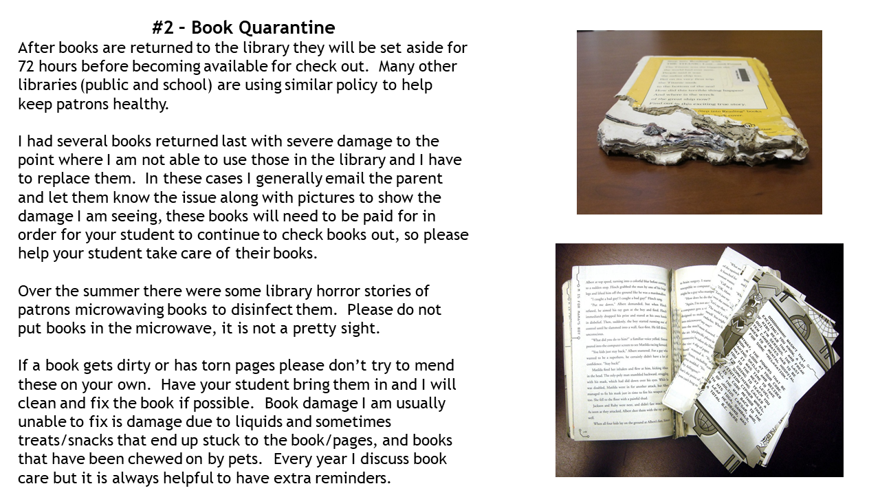 Book Quarantine Information