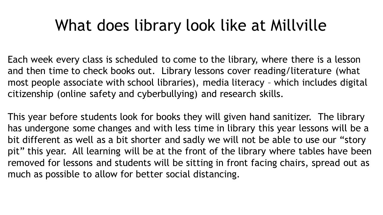 What does library look like at Millville