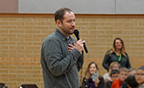 Bestselling author Brandon Mull inspires students during visit to Greenville Elementary