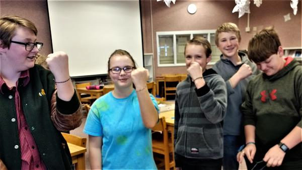 White Pine students with friendship bracelets