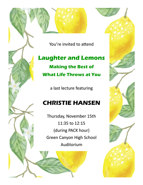 Laughter and Lemons flyer