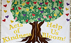 Kindness tree at Heritage Elementary