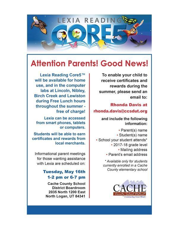 Online Summer Reading Program (Lexia Reading Core5