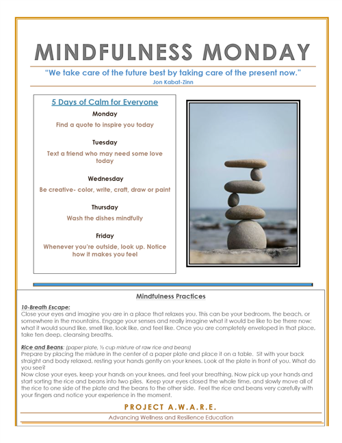 Mindfulness Monday tips