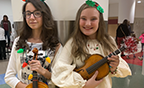 MWSA students with their violins