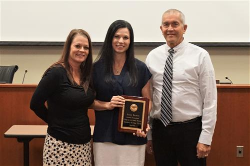 Pandi Backus is honored as Teacher of the Year for Lincoln Elementary