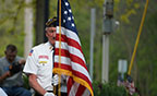veteran with flag