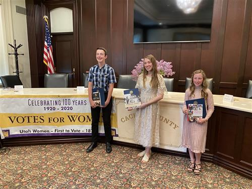 Women's Suffrage writing competition winners